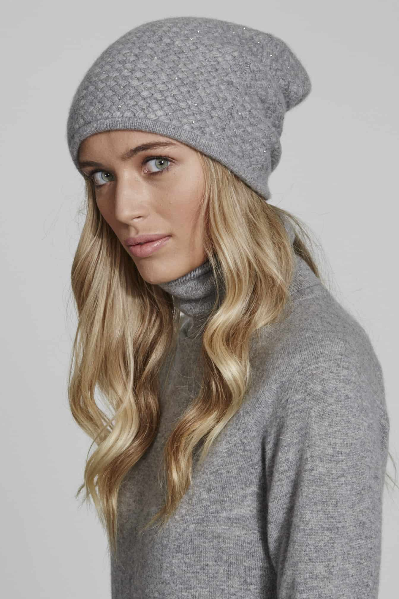 WAFFLE SLOUCH HAT WITH SCATTER - William Sharp 1412724707ab