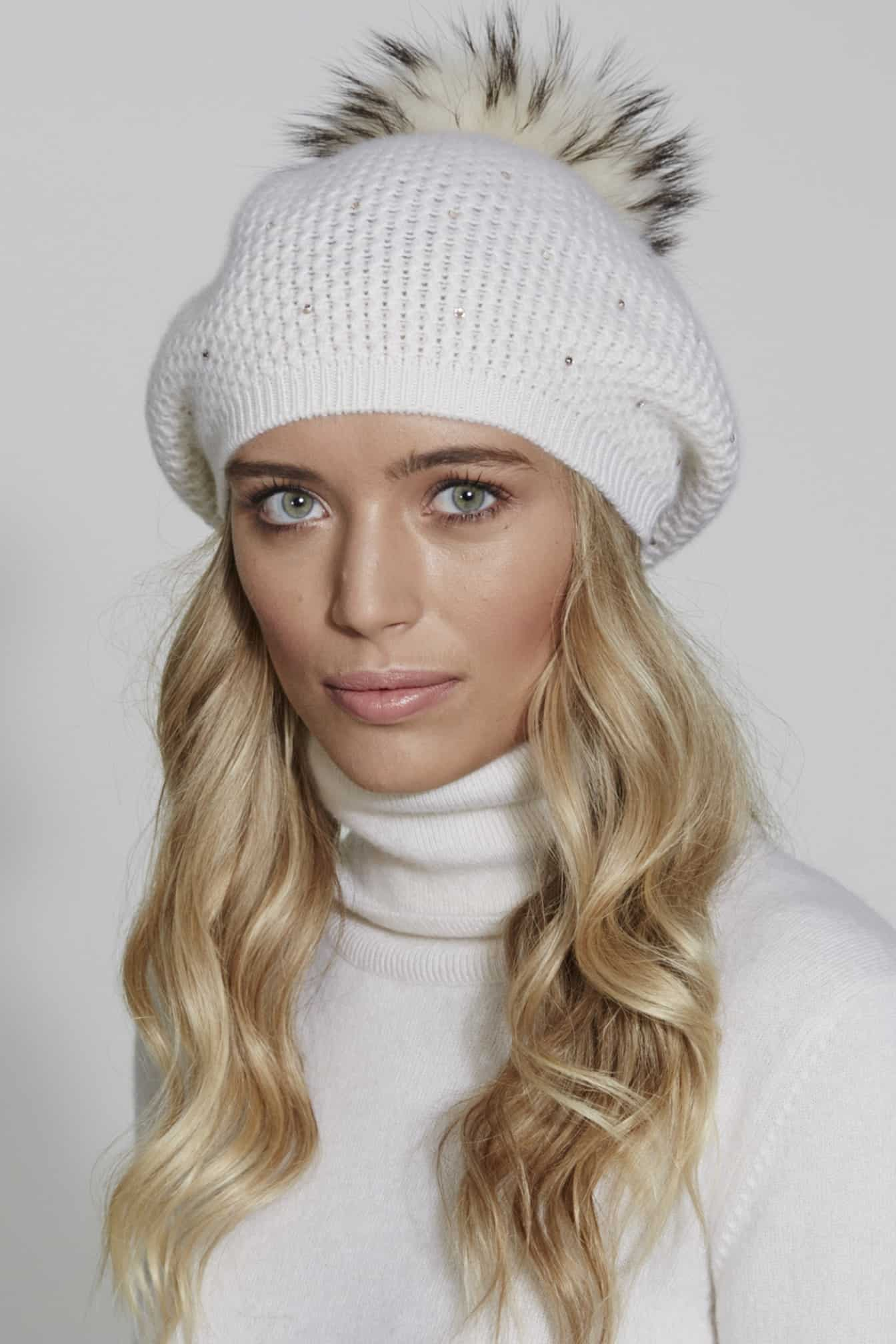 d76924f08815e MINI DIAMOND BERET WITH SCATTER AND POM - William Sharp